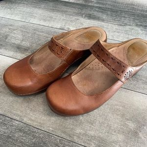 {Dansko} Mary Jane leather clogs
